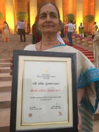 Smt. Urmila Apte Awarded Nari Shakti Puraskar – 2017